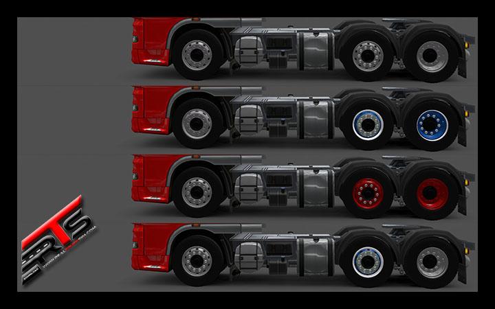 Image Principale Euro Truck Simulator 2 - MODS : Daf - Pack de roues by Ventyres
