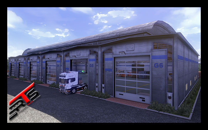 Image Principale Euro Truck Simulator 2 - MODS : Garage - All doors open mod by Peerke145