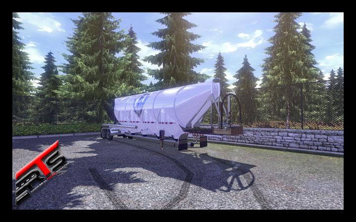 Image Principale Euro Truck Simulator 2 - MODS : Citerne pulvérulente américaine by Andrywka