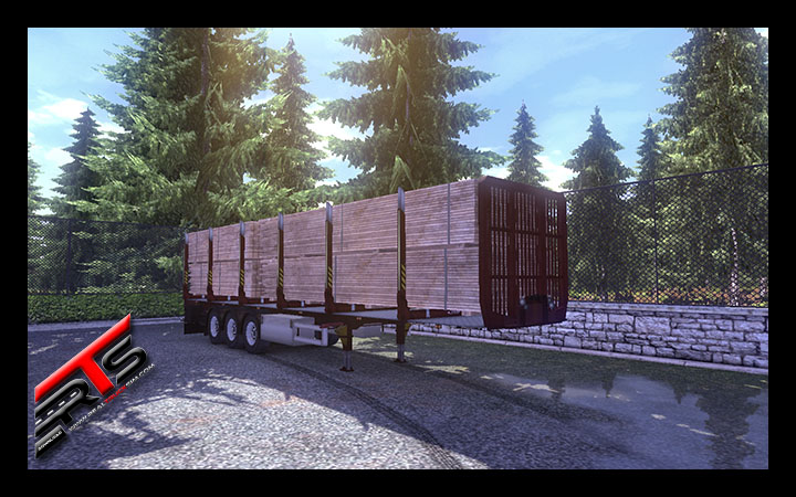 Image Principale Euro Truck Simulator 2 - MODS : Remorque à ranchers Fliegl by Rommi TZ modifié by Micha-BF3