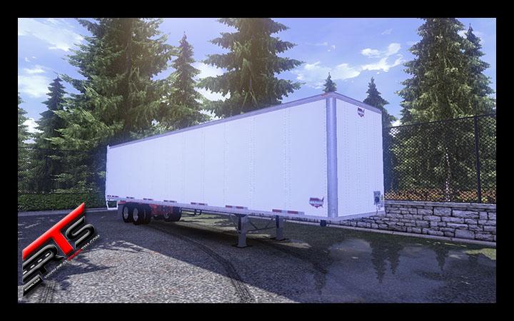 Image Principale Euro Truck Simulator 2 - MODS : Remorque fourgon américaine by Vecc21