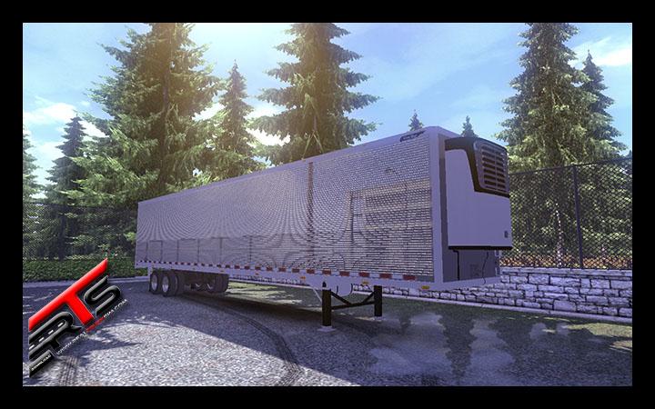 Image Principale Euro Truck Simulator 2 - MODS : Remorque frigorifique américaine chromée by RBR-DUK