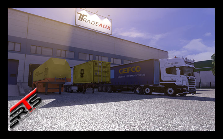 Image Principale Euro Truck Simulator 2 - MODS : Trailer pack with realistic textures V1.9.0 by Vaarduar