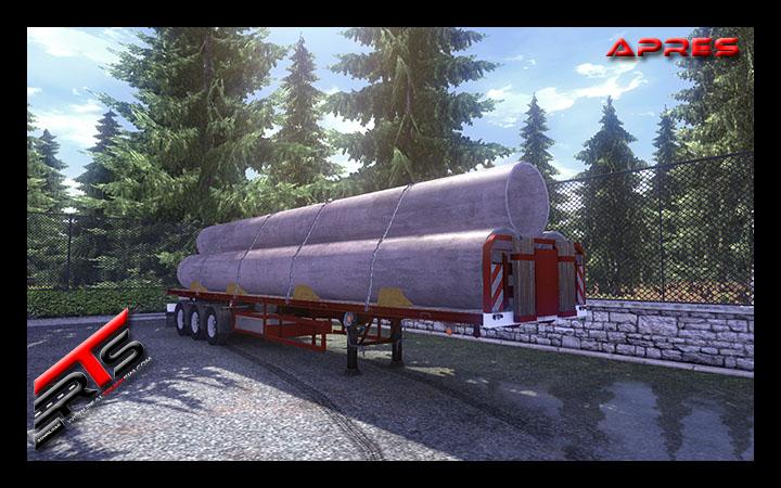 Image Principale Euro Truck Simulator 2 - MODS : Flatbed repaint by Kamaz