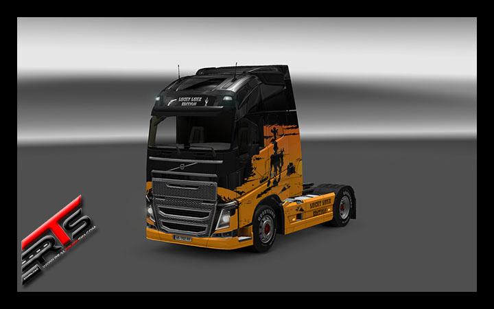 Image Principale Euro Truck Simulator 2 - MODS : Volvo - Skin Lucky Luke Edition by Bubu38