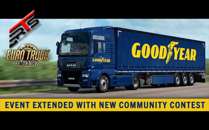 Image Principale World of Trucks - Euro Truck Simulator 2 : Evénement Goodyear prolongé avec un concours communautaire !