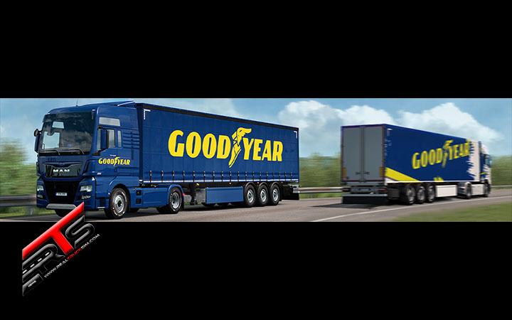 Image Principale World of Trucks - Euro Truck Simulator 2 : Goodyear Roll-Out !