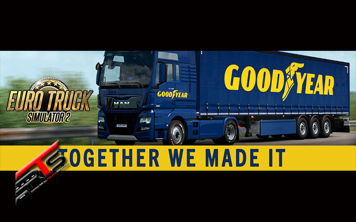 Image Principale World of Trucks - Euro Truck Simulator 2 : Objectif  du Goodyear Roll-Out atteint !