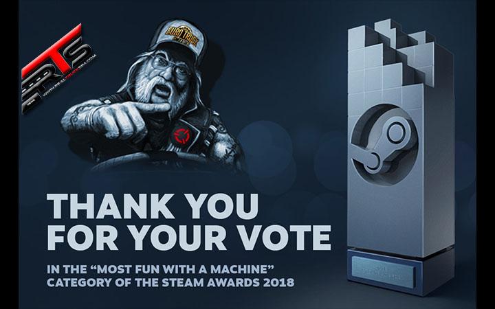 Image Principale Euro Truck Simulator 2 : Steam Awards 2018 - Merci pour vos votes !