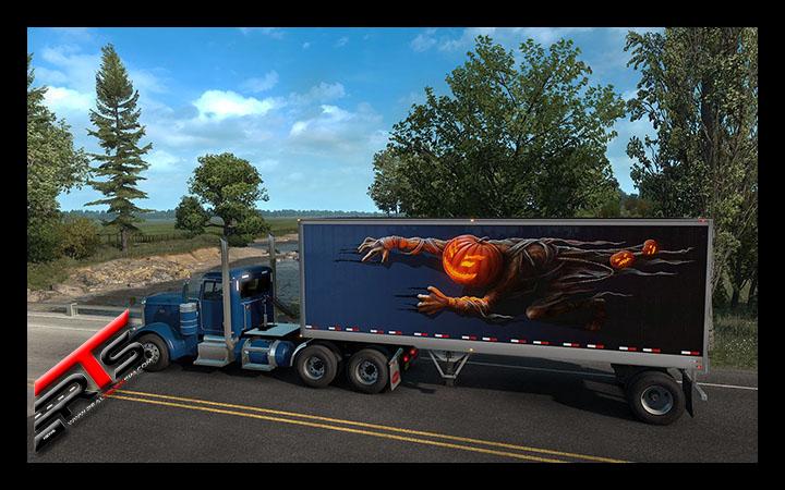 Image Principale Euro Truck Simulator 2 - American Truck Simulator - DLC : Halloween rampe jusqu'à nous