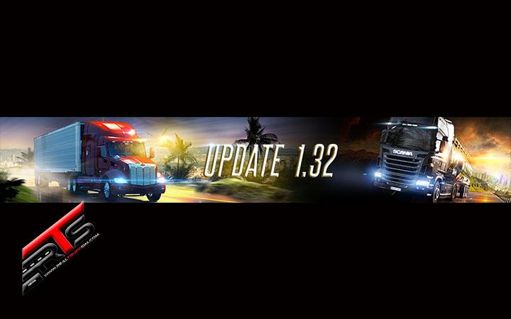 Image Principale Euro Truck Simulator 2 - American Truck Simulator : Mises à jour 1.32 disponibles