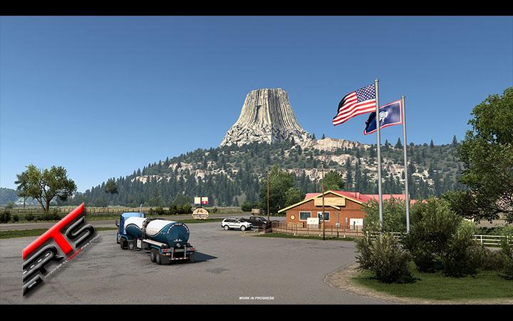 Image Principale American Truck Simulator - WIP : Wyoming - Devils Tower