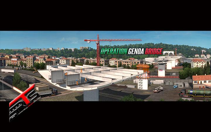 Image Principale World of Trucks - Euro Truck Simulator 2 : Annonce de l'opération Genoa Bridge